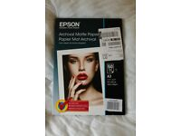 Epson Archival Matte Paper - 50x A3 Sheets - Unopened