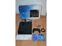 Sony Playstation 4 -500 GB Jet Black Like New in box CUH-1116A
