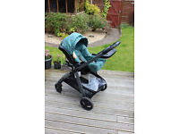 Graco Travel System in Sea Pine Excellent condition