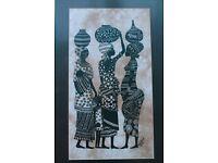 Framed African Batik