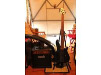 Bass Guitar with Amplifier, Stand and Soft Case