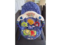 Tess Toys - Fisher-Price Kick and Play Bouncer in Fabulous Condition Great Christmas Gift £ 15 ONO