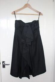 Coast Black Silk 'Carrie' Frill Dress, size 12 - Brand new!