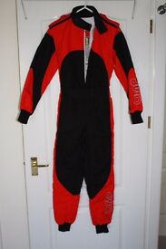OMP Go Karting Childs Racing Suit Red & Black Excellent condition