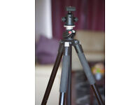 Manfrotto 055XPROB tripod with bag & ball head, excellent condition