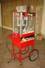 Old Fashioned Movie Popcorn Maker Machine Cart & Concession Stand