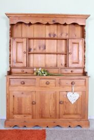 DELIVERY OPTIONS - RUSTIC PINE DRESSER LOTS OF AGE MARKS PAINTING PROJECT SOLID