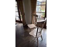 6 Oak Colour Dining Chairs