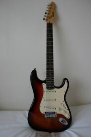 A Hohner Professional ST 59 guitar, with sunburst finish, good condition