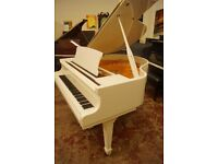 New Bentley baby grand piano in white - FREE UK delivery and matching bench