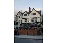 Experienced floor and bar staff wanted for busy gastro pub in Kentish Town