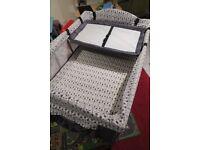 John Lewis Travel Cot with additional baby bassinet