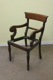 Single chair frame for project or restoration