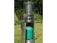 Patio Heater - 'Bullet' type. Including gas bottle