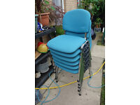Blue Stackable Chairs (6 available)
