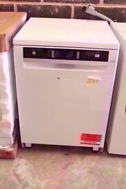 White Brand New A+++ HOTPOINT Ultima Full-size Dishwasher with 14 Place Settings.