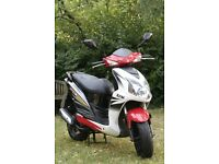 Hardly used Sym moped 2011 very Excellent condition, no MOT parked in garage