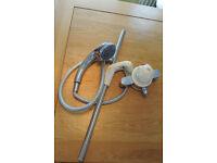MIRA 415 Power Shower Mixer in cream.