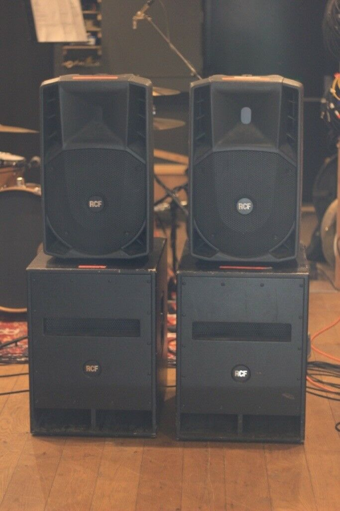 PA SPEAKERS for sale. 2 x RCF ART 712a MKII tops. 2 x RCF SUB 705as