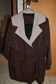 Silkana by Nuage Size 14 Ladies Brown Jacket with hood