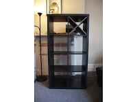Ikea KALLAX, Shelving unit (2x4), bookshelves book shelf black-brown