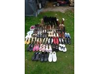 45 pairs s/h ladies boots and shoes