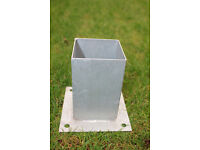 Fence post base support, brackets 90mm