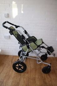 Patron Tom Special Needs Tilt in Space Reversible Push Chair Buggy green CAN POST