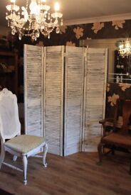 Dressing screen / room divider / Shabby chic French