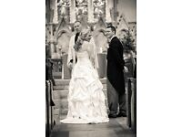 Rosetta Nicolini size 14 wedding dress, worn once and also dry cleaned (£140)