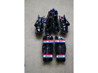 Sparring pads, adult large, consisting of hand, shin and foot protectors