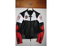"""Men's Wolf Motorcycle Jacket Size 42"""" Chest with Detachable Lining - Excellent Condition"""