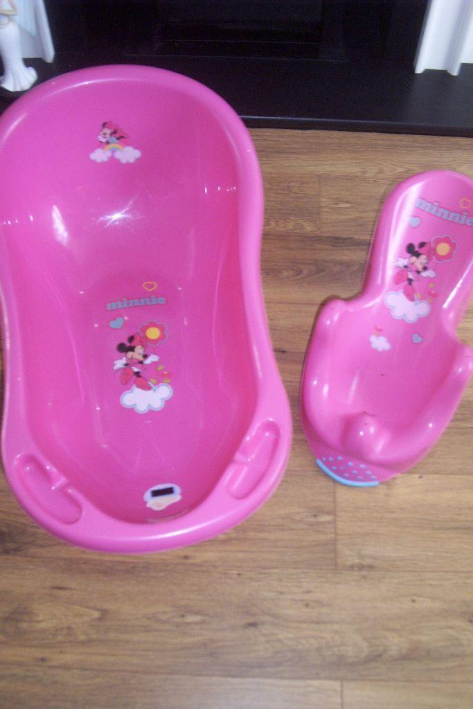 disney minnie mouse bath tub & minnie mouse bath seat support pink ...