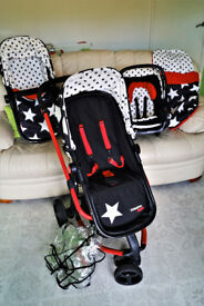 Cosatto Giggle All Star 3 in 1 Travel System Pushchair Car Seat Pram