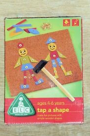 ELC Tap A Shape, Make Fun Pictures With Simple Wooden Shapes, Very Good Condition, Histon