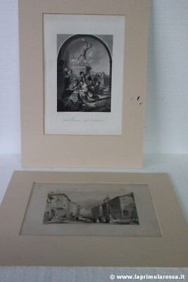 DUE INCISIONI ANTICHE INGLESI - TWO ANTIQUE ENGLISH PRINTS