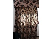 Designer Bedroom Curtains, Throw, Cushions and Matching Lamp.