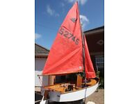 Mirror Sailing Dinghy & Launching Trolley for Sale £450