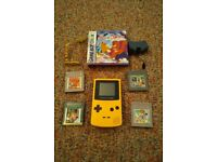 Gameboy color + games +rechargeable battery pack