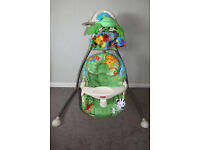Fisher Price Open Top Rainforest Cradle Swing - Excellent Condition