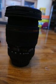 sigma 24-70 f/2.8 dg os hsm nikon mount with filter as new never been used