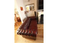 Oxblood Chesterfield 3 seat sofa - Perfect Condition