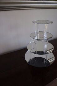 4 Tier Mirrored Acrylic Cupcake Stand