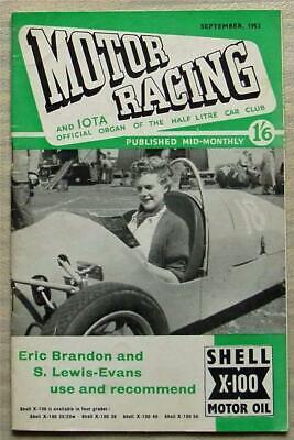 MOTOR RACING & IOTA Journal Car Magazine Sept 1953 Half Litre Club