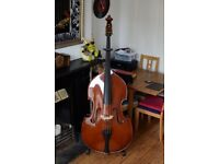 'The Stentor Conservatoire' DOUBLE BASS w/pickup - Stentor Music Co Ltd. 3/4 Sized.