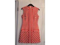 Karen Millen Red and White Stripy Dress