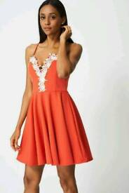Ex branded pretty dress with lace