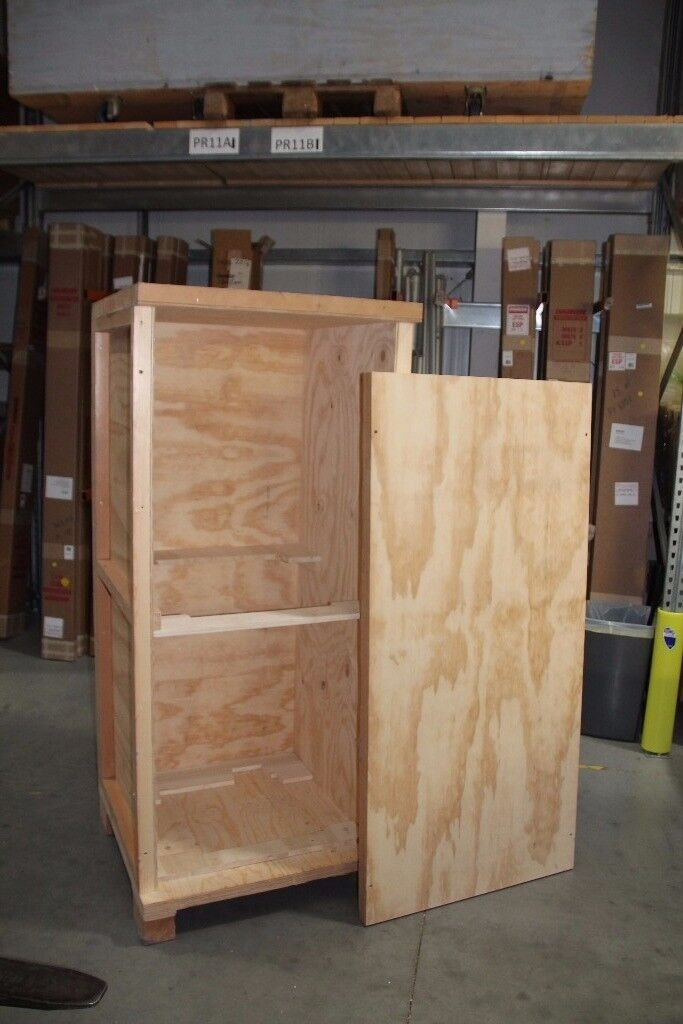 Wooden Shipping Crate 168 x 75 x 73cm