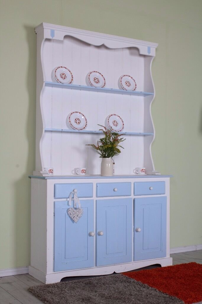COTTAGE STYLE PAINTED PINE DRESSER SHABBY CHIC PAINTING PROJECT - CAN COURIER