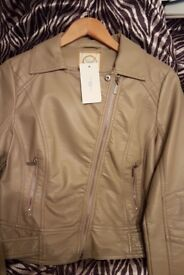 New look leather jacket BNWT SIZE 12